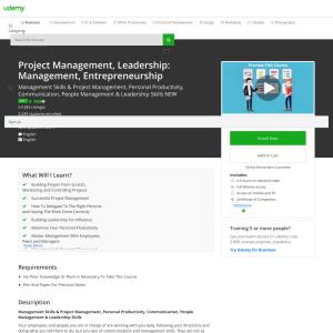Free Project Management, Leadership: Management, Entrepreneurship