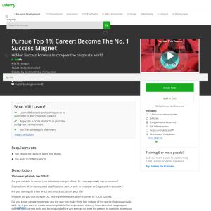 Free Pursue Top 1% Career: Become The No. 1 Success Magnet