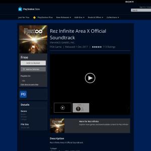 Free Rez Infinite Area X Official Soundtrack
