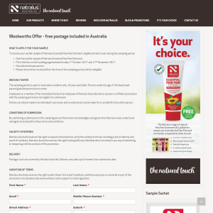 Free Sample of Natralus Essential Paw Paw Ointment
