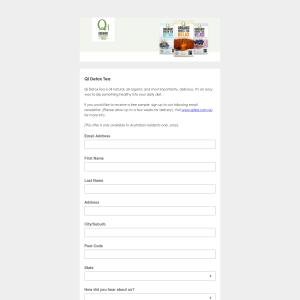 FREE Sample of Organic Qi Tea