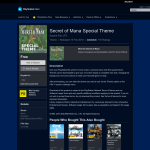 Free Secret of Mana Special Theme