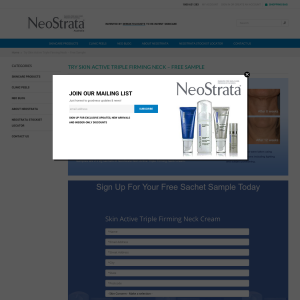 FREE Skin Active Triple Firming Neck