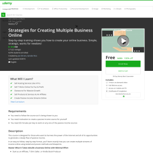 Free Strategies for Creating Multiple Business Online