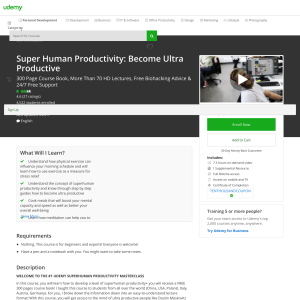 Free Super Human Productivity: Become Ultra Productive