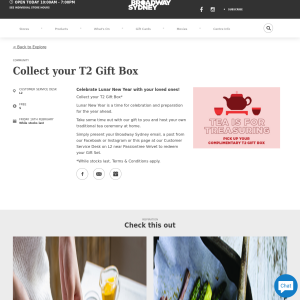 Free T2 Gift Box from The Customer Service Desk