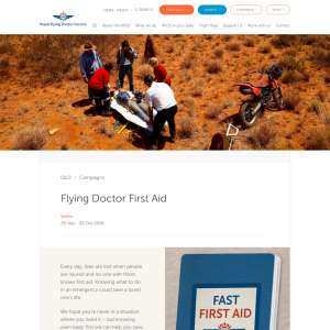 Free The Flying Doctors First Aid Booklet