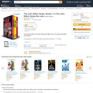 Free The John Milton Series: Books 1-3 (The John Milton Series Box set) Kindle Edition