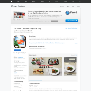 Free The Photo Cookbook - Quick & Easy