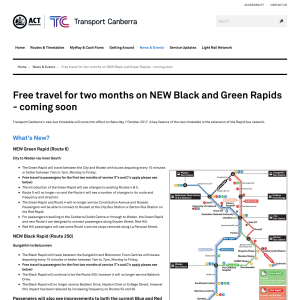 Free Travel for Two Months on Black and Green Rapid Bus Routes