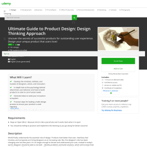 Free Ultimate Guide to Product Design: Design Thinking Approach