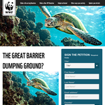 Free WWF keyring when you sign up for the Barrier Reef Petition