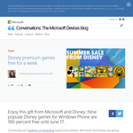 Nine popular Disney games for Windows Phone are 100-percent free
