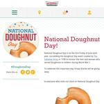 One free Original Glazed doughnut